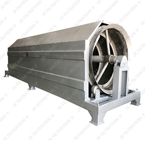 internally fed rotary drum screen